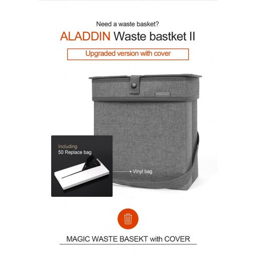 Waste basket with cover