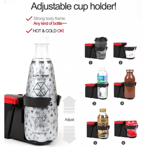 Height adjustable cup holder